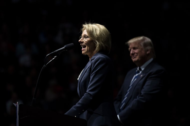 "Report: Betsy DeVos To Meet With Men's Rights Group To Discuss ""False Rape Accusations"""