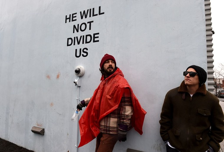 Shia LaBeouf's Livestreaming Trump Protest Installation Has Been Shut Down