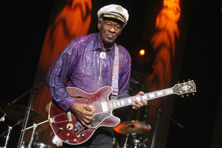 Chuck Berry will be the subject of a documentary and accompanying biopic