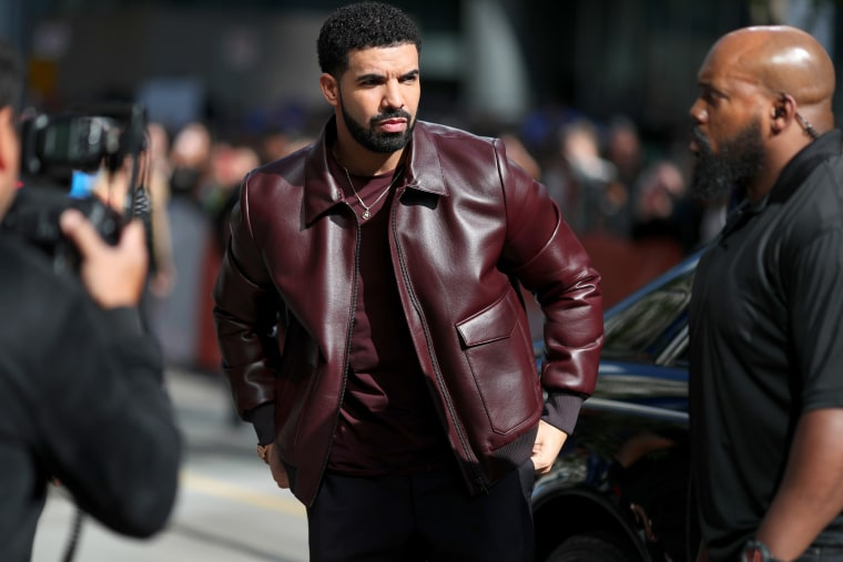 Drake's Aubrey and the Three Migos Tour set features a flying Ferrari