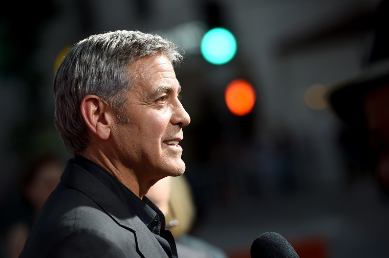 "George Clooney has 14 friends and they call themselves ""The Boys"""