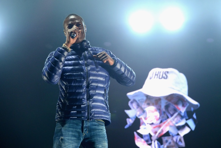 J Hus arrested and charged with carrying a knife