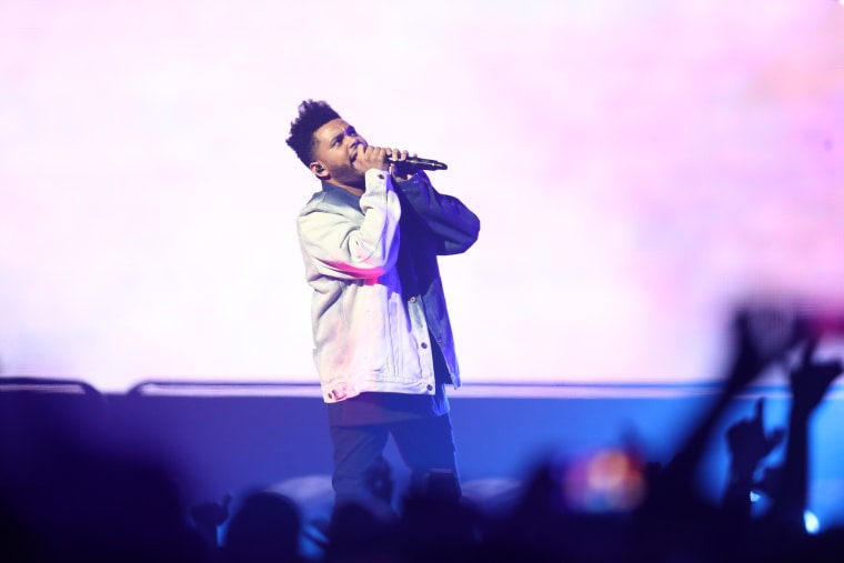 The Weeknd appears to be filming a new music video