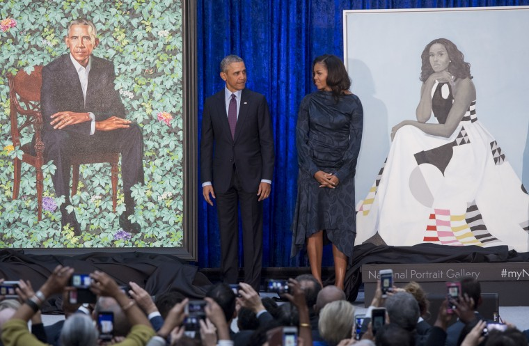 Barack and Michelle Obama's official portraits have been unveiled