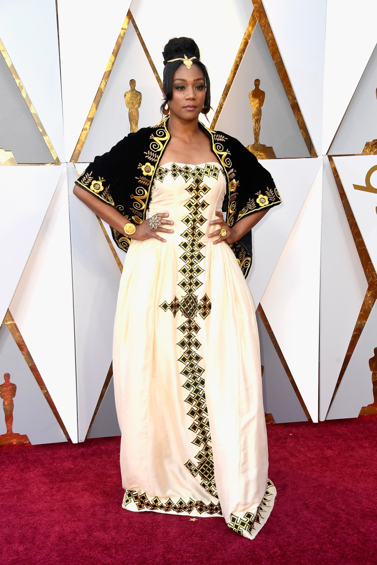 Tiffany Haddish wore a stunning Oscars gown to honor her father's Eritrean roots