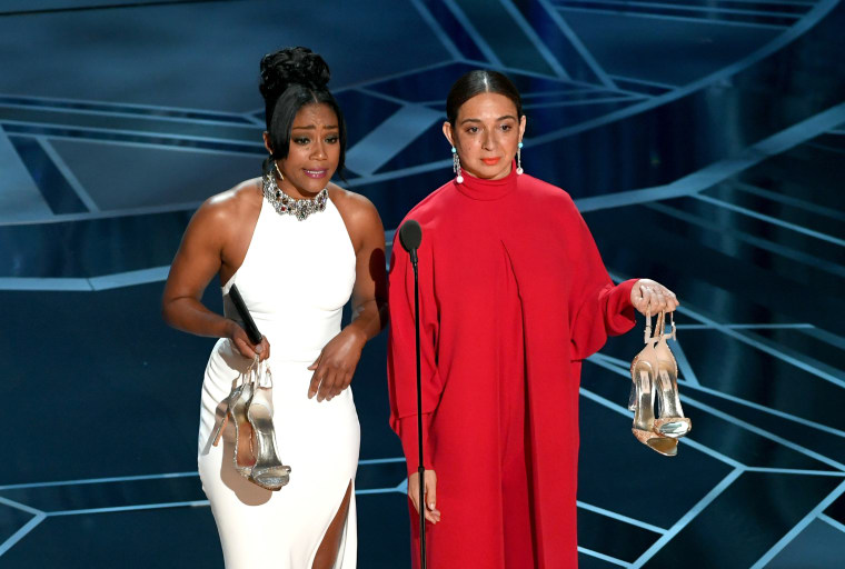 Tiffany Haddish's <i>SNL</i> gown made a return at the Oscars