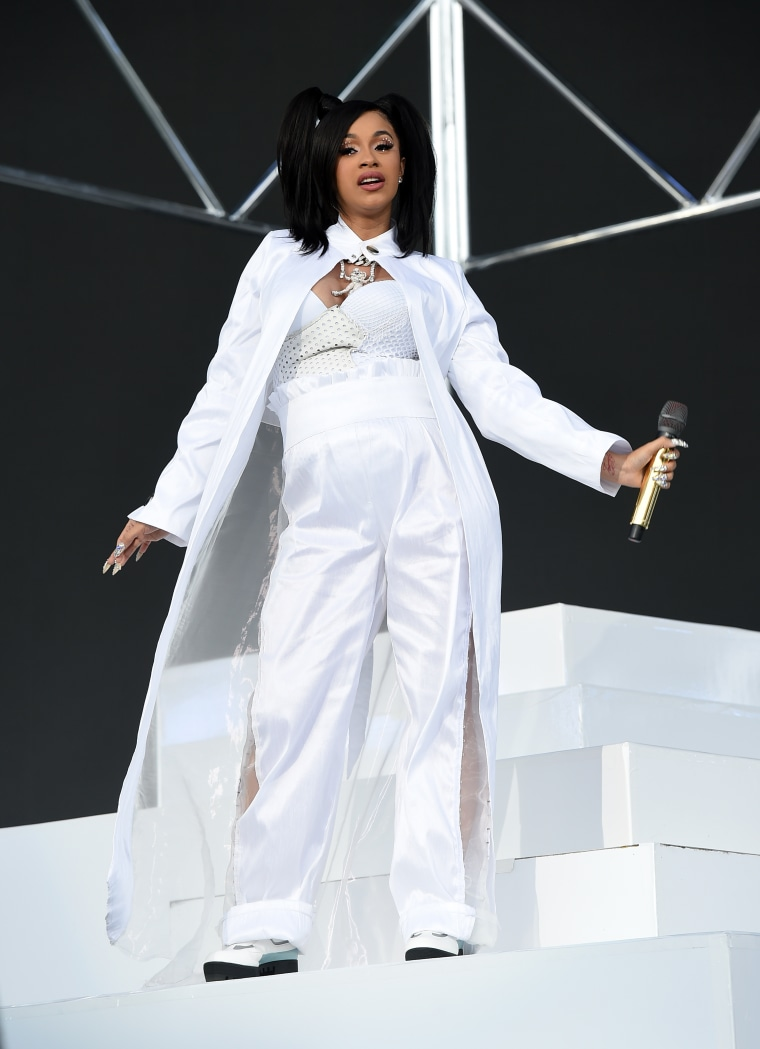 Cardi B channeled an iconic TLC look for her Coachella outfit