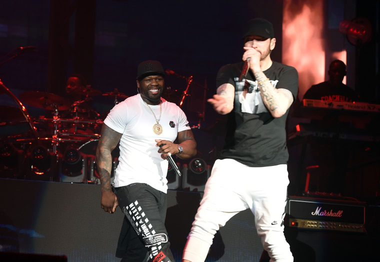 Watch Eminem perform with Dr. Dre, 50 Cent at Coachella