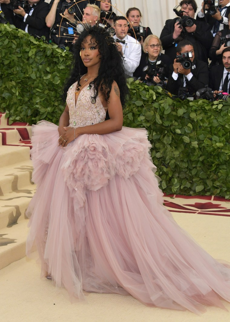 SZA stuns at the Met Gala