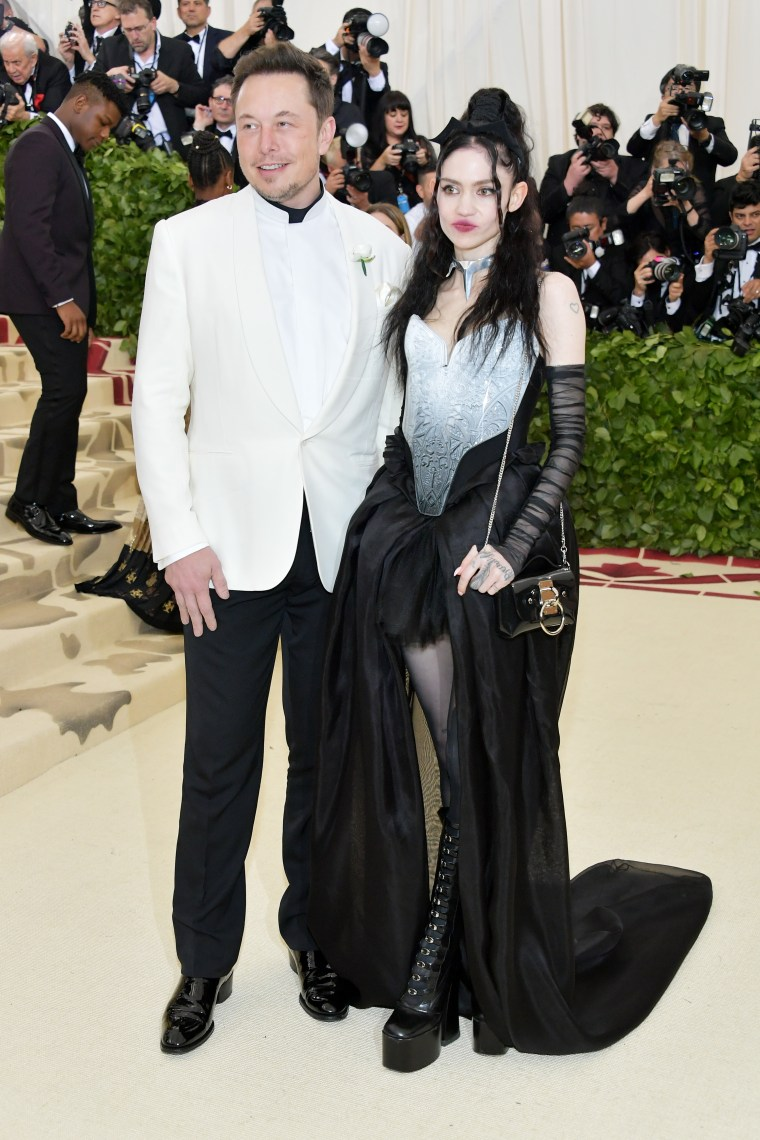 Grimes and Elon Musk arrive at the Met Gala