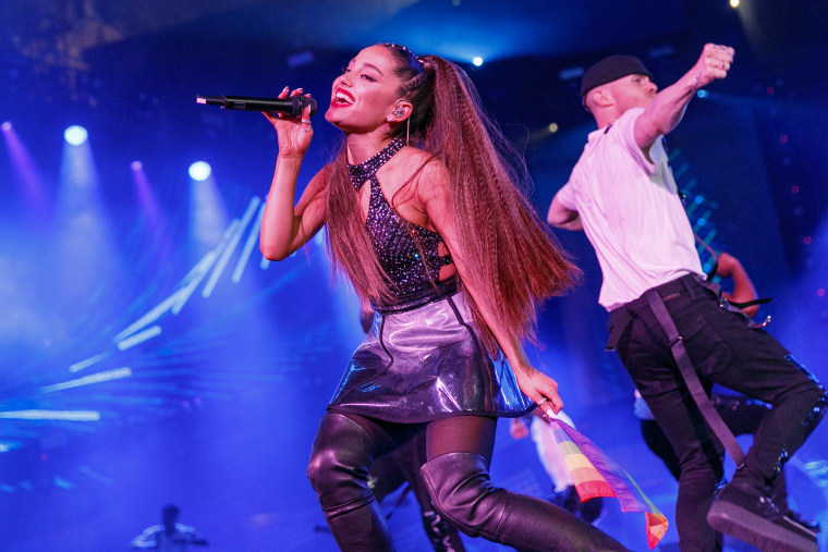 Ariana Grande is back in the studio working on new music