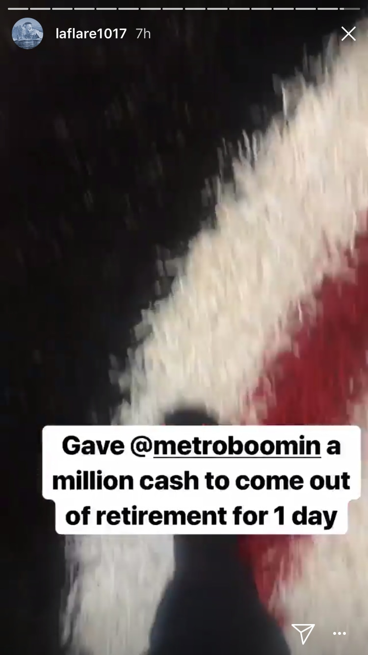"Gucci Mane says he brought Metro Boomin out of retirement for ""a million cash"""