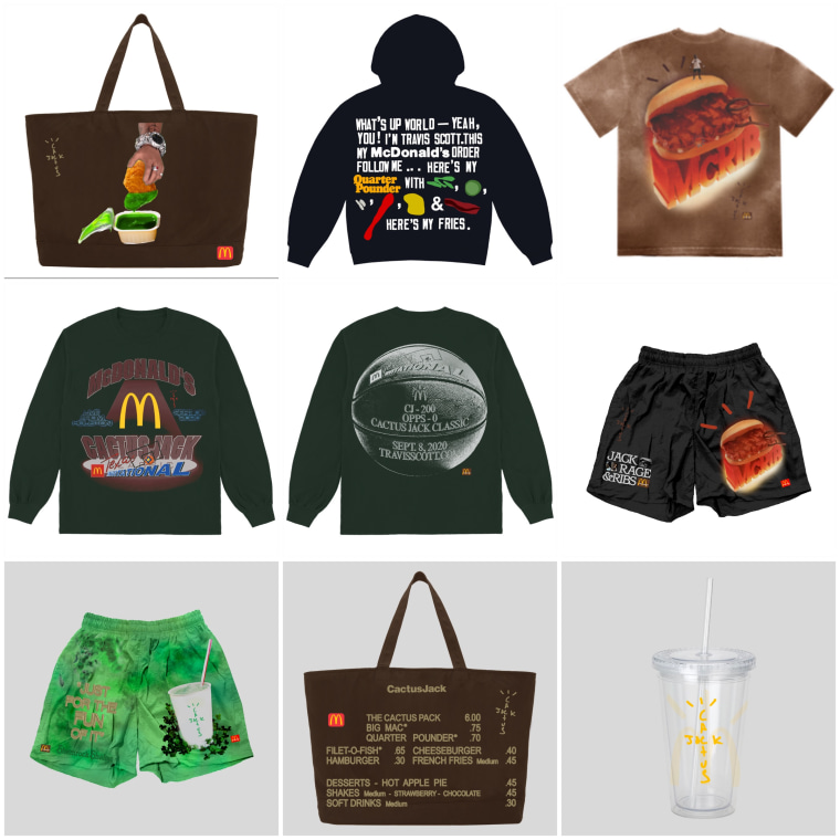Travis Scott's new McDonald's merch drop looks exactly like you think it does