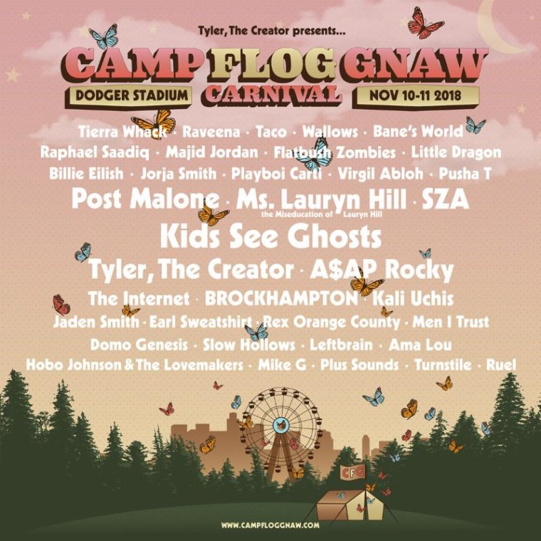 Camp Flog Gnaw 2018 lineup includes Kids See Ghosts, BROCKHAMPTON, Post Malone, and more