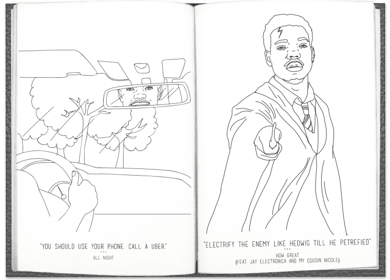 Chance The Rapper\'s Coloring Book Lyrics Are Now In A Real (And Free ...