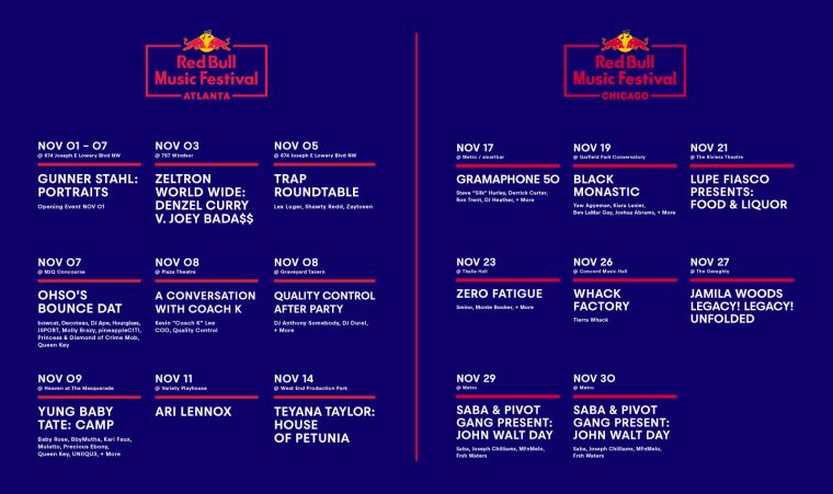 Tierra Whack, Lupe Fiasco, Teyana Taylor, and more confirmed for Red Bull Music Festival