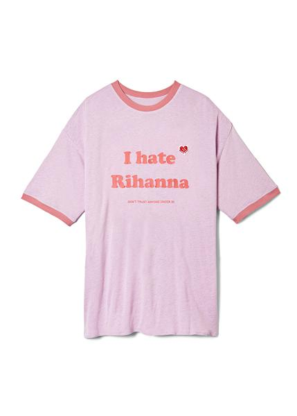 Rihanna rang in her 30th birthday in an I Hate Rihanna shirt because she can