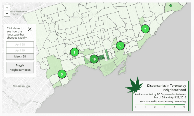 The Rise And Fall Of Toronto's Weed Dispensaries: A Brief Timeline