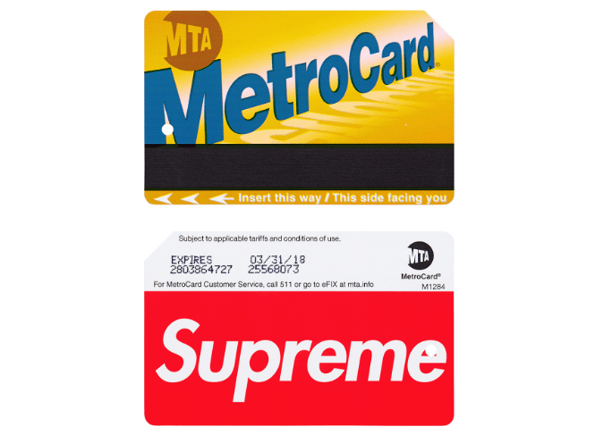 Supreme Is Coming Out With A Customized MetroCard