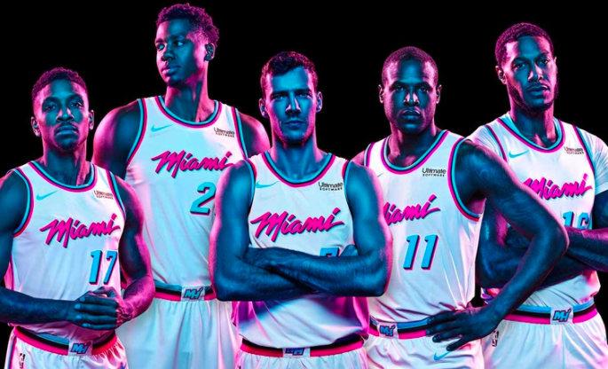 Miami HEAT debuts <i>Miami Vice</i>-themed uniforms