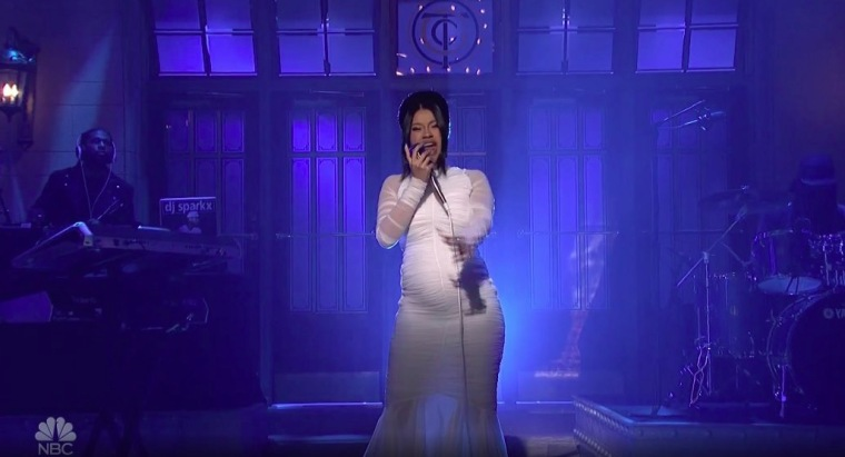 Cardi B unveils pregnancy during <i>Saturday Night Live</i> performance