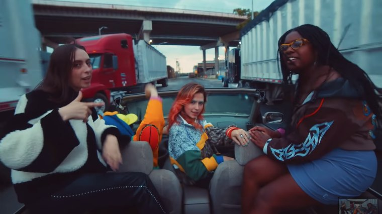 "Watch Deaton Chris Anthony, Clairo and Coco & Clair Clair's ""RACECAR"" video"