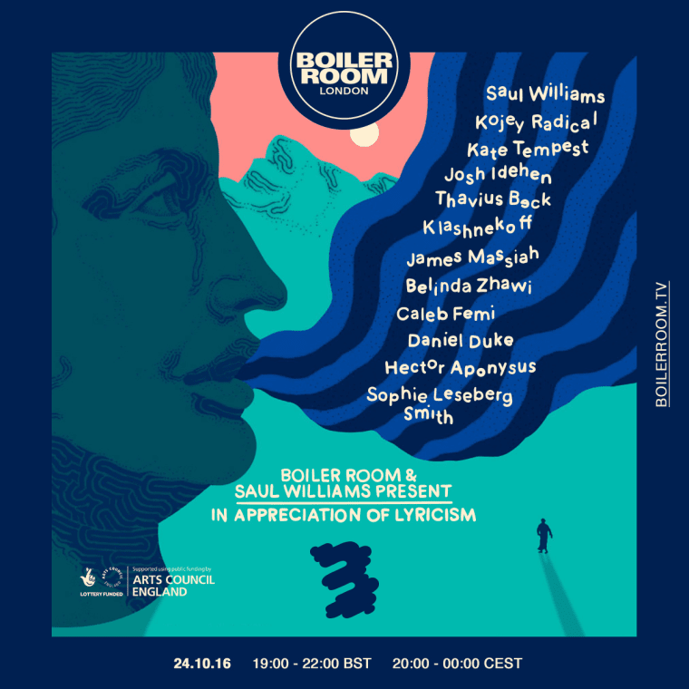 Boiler Room And Saul Williams Team Up On An Evening Dedicated To Lyricism And Spoken Word