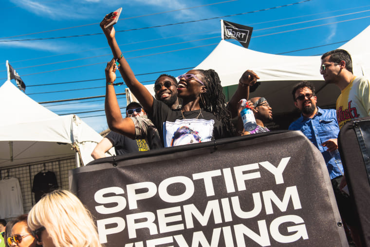 Spotify Premium Members Got the Exclusive FADER FORT Plug