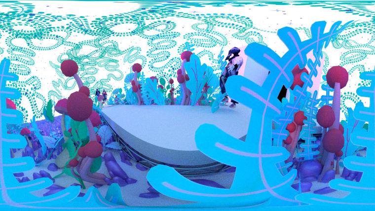 Animator Jeron Braxton and designer Sho Konishi made a mind-boggling virtual fashion show