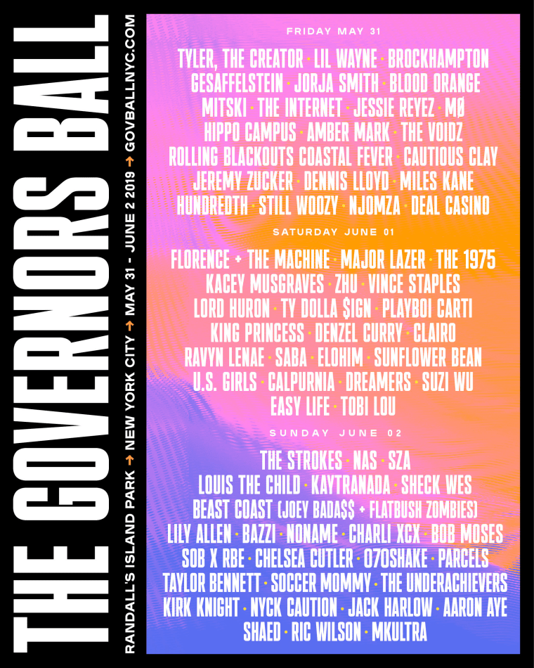 Governors Ball 2019: Tyler, The Creator, Florence + The Machine to headline