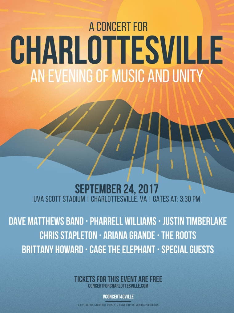 "Pharrell And Ariana Grande To Appear At ""A Concert For Charlottesville"""