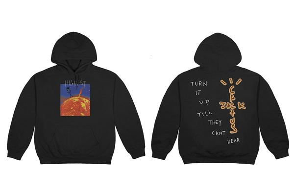 "See Travis Scott's entire ""Highest In The Room"" merch collection"