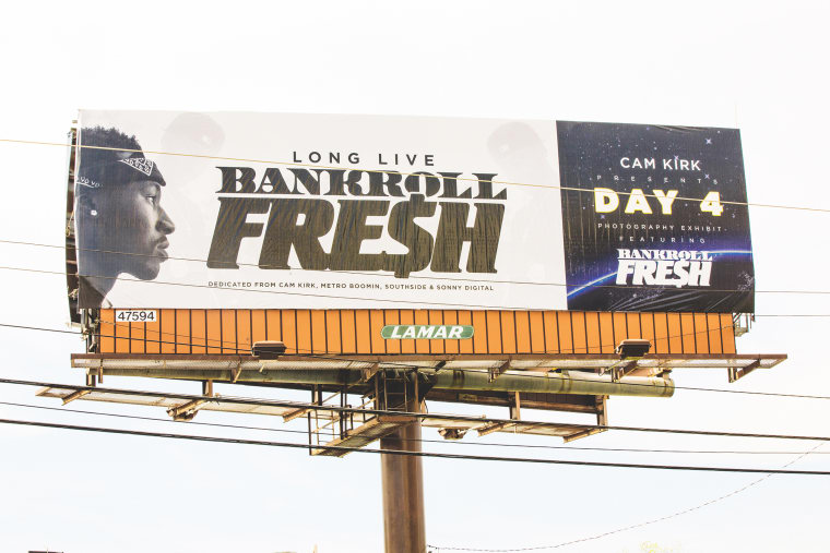 Cam Kirk Presents His<i> Day 4 </i>Exhibit, An Atlanta Billboard Featuring Bankroll Fresh