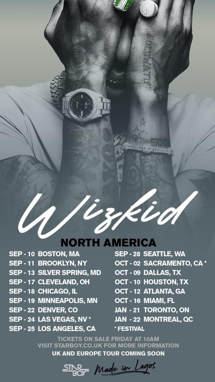 Wizkid announces 2021 North American tour