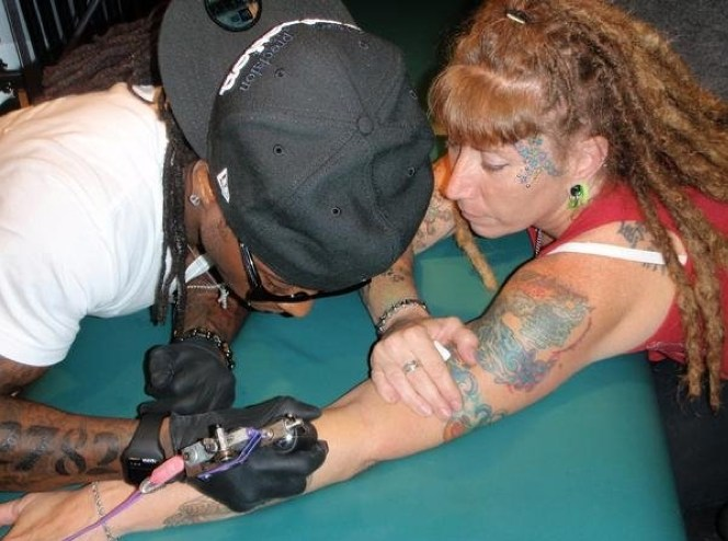 This Is The Woman Responsible For 300 Of Lil Wayne's Tattoos