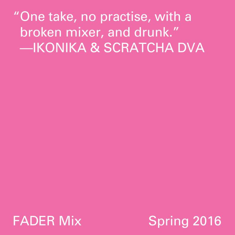 FADER Mix: Ikonika & Scratcha DVA