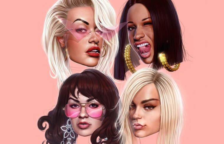 "Charli XCX, Cardi B, Rita Ora and Bebe Rexha link up for ""Girls"""