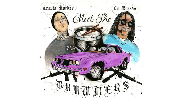 "Listen to 03 Greedo and Travis Barker of Blink-182's ""Cellout"""