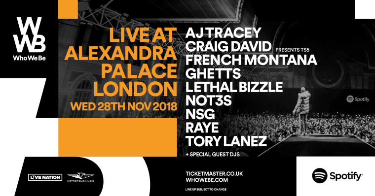 French Montana, Craig David, and more confirmed for Spotify event in London