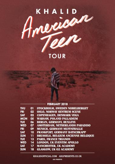 Khalid announces 2018 European tour dates