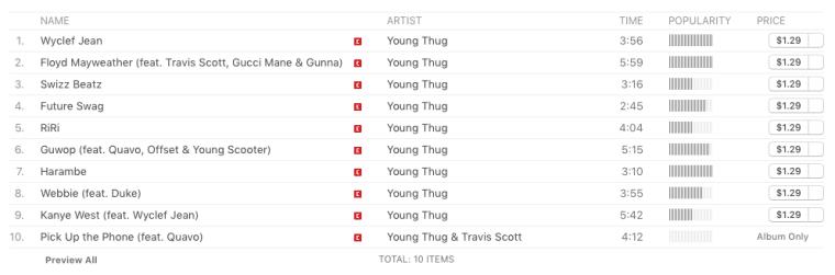 "Young Thug Changes ""Pop Man"" To ""Kanye West"" On Apple Music"