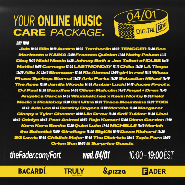 Check out the lineup for Day 2 of Digital FORT