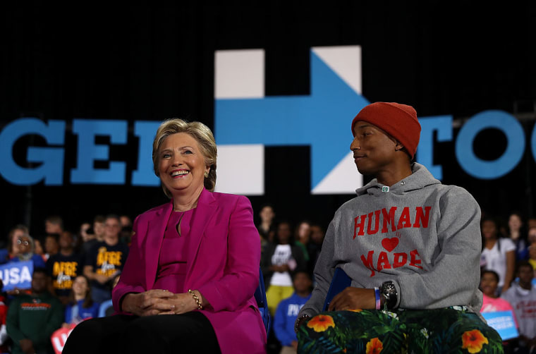 Hillary Clinton Brings Out Pharrell At North Carolina Rally