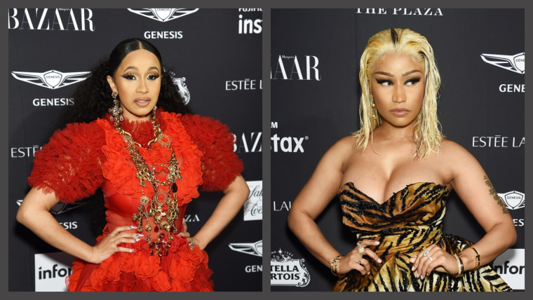 Cardi B reportedly threw a shoe at Nicki Minaj at the Plaza Hotel