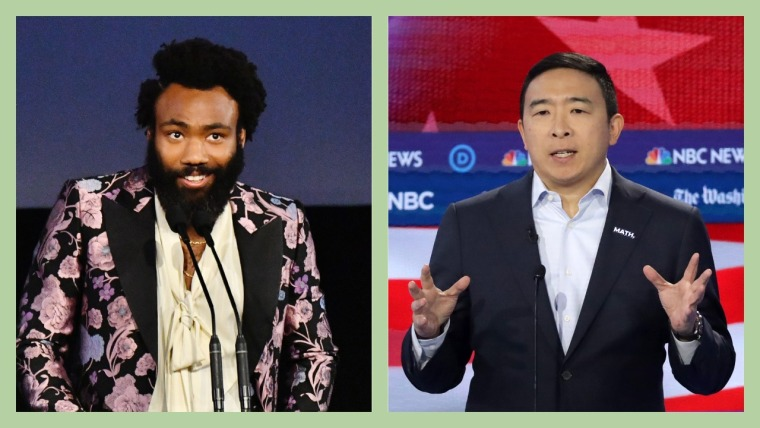 Donald Glover announces Andrew Yang fundraiser