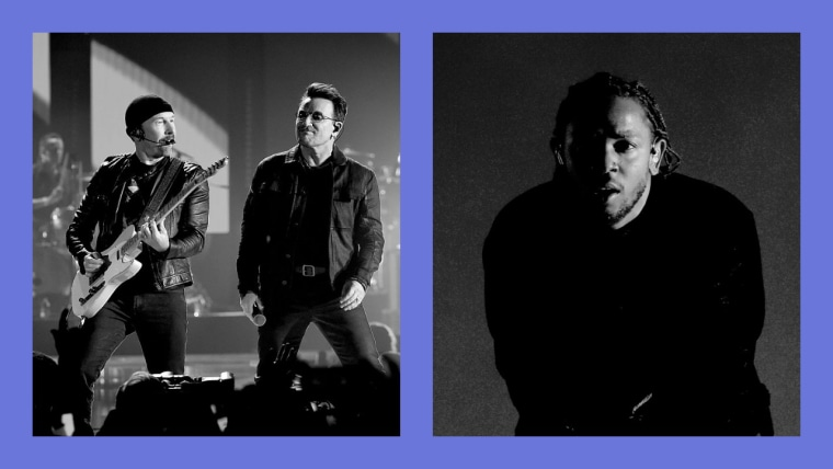 "Listen to U2's new song ""Get Out Of Your Own Way"" featuring Kendrick Lamar"
