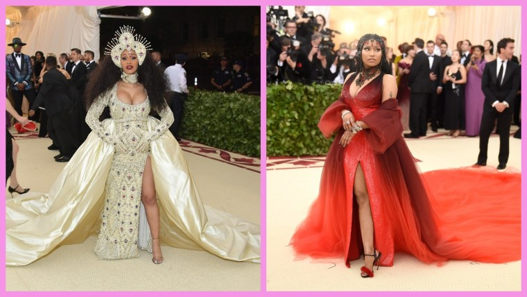 Cardi B resolved her issues with Nicki Minaj at the Met Gala