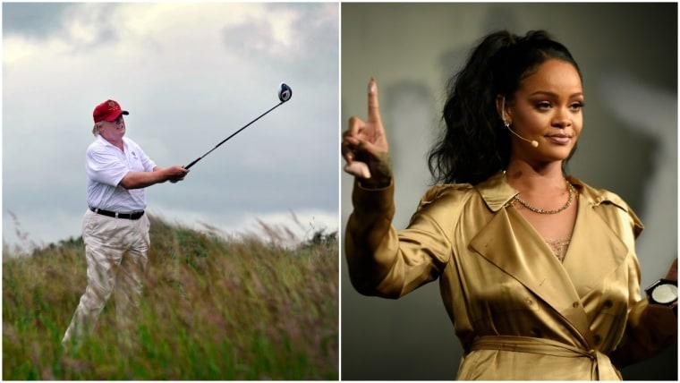 Donald Trump liked a Rihanna stan tweet about work/life balance