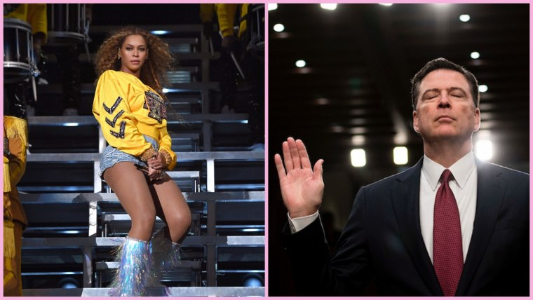 "James Comey says he once sung Beyoncé's ""Sandcastles"" during an FBI briefing"