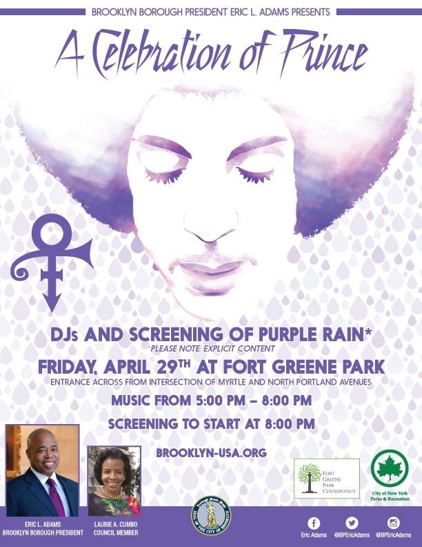 Brooklyn Borough President To Host Prince Tribute This Friday